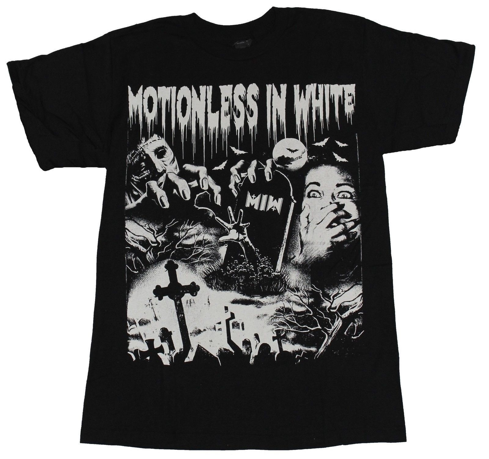 Motionless In White-Group Photo 5-Black T-shirt