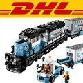 En stock2017 DHL Nueva LEPIN 21006 1234 Unids Serie Técnica Maersk Tren Kits de Edificio Modelo Bloques Ladrillos Niños Juguetes de Regalo 10219