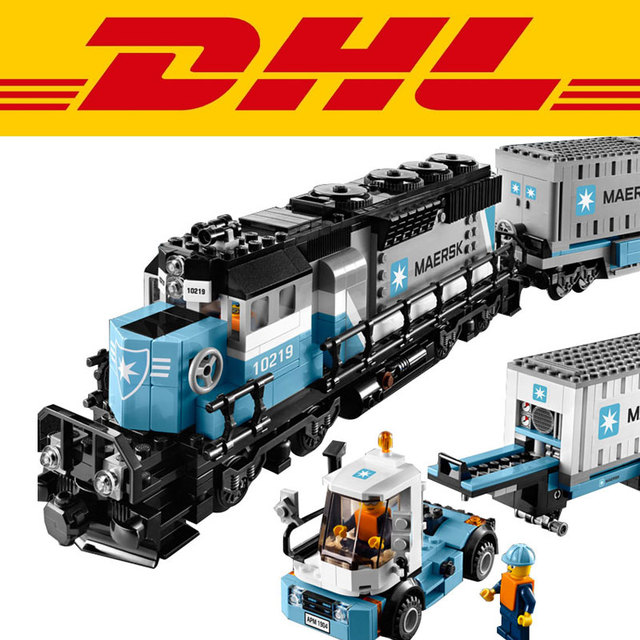 in stock2017 DHL New LEPIN 21006 1234Pcs Technic Series Maersk Train Model Building Kits  Blocks Bricks Children Toys Gift 10219