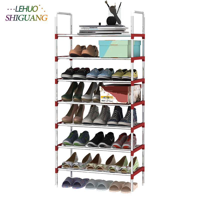8 Layers Shoe Rack Galvanized steel pipe shoe cabinet shoe organizer removable shoe storage for home furniture Keep Room Neat shoe rack nonwovens steel pipe 4 layers shoe cabinet easy assembled shelf storage organizer stand holder living room furniture