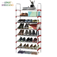 8 Layers Shoe Rack Galvanized steel pipe shoe cabinet shoe organizer removable shoe storage for home furniture Keep Room Neat
