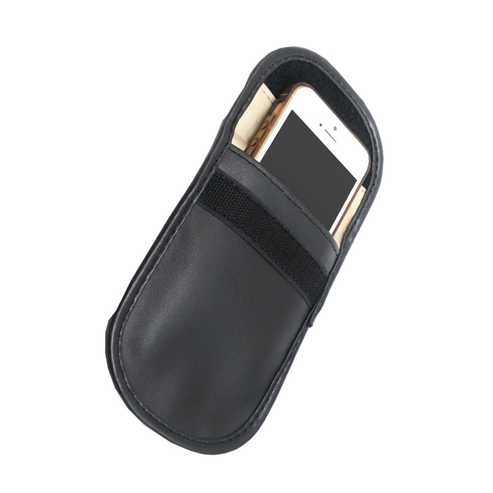 Image 5 - Car Key Signal Blocker Case Faraday Cage Fob Pouch Keyless RFID Blocking Bag Leather-in Key Case for Car from Automobiles & Motorcycles