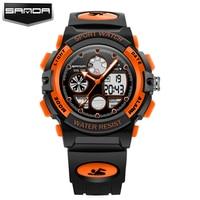 SANDA New Fashion Children Sports Digital Watches Rubber Waterproof Watch Boys Girls Kids Wristwatches For Gifts
