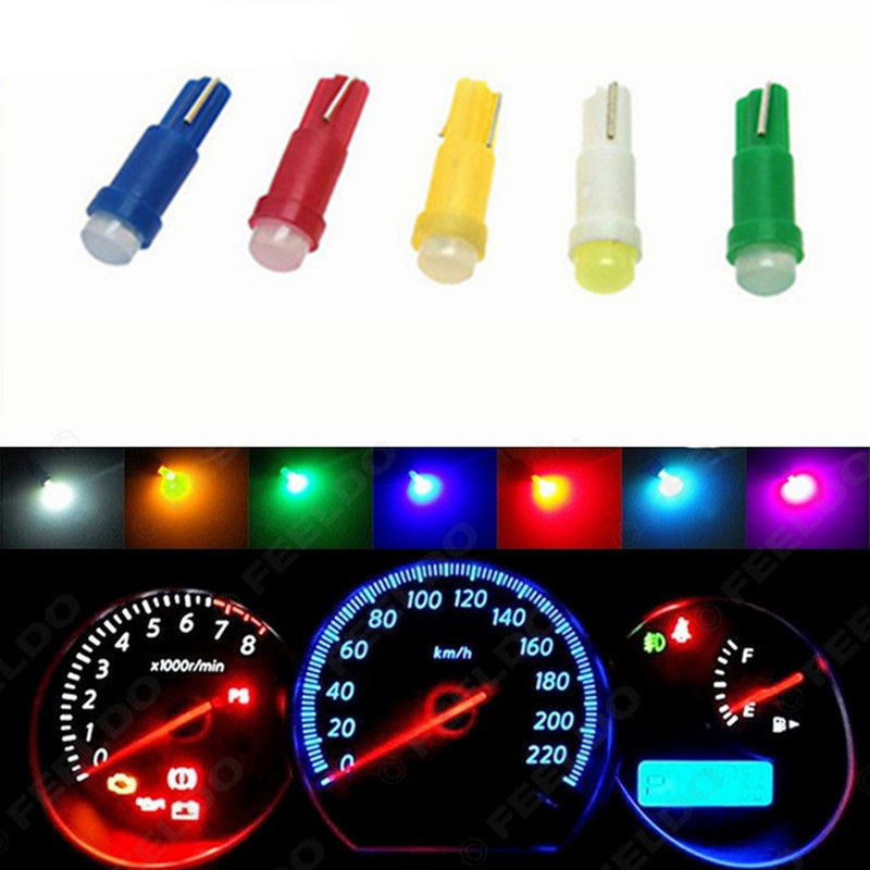 10pc T5 led car dashboard light instrument automobile door Wedge Gauge reading lamp bulb 12V cob smd Car Styling white red t5 1 smd red dashboard wedge led car light bulb lamp 74 dash led car bulbs interior lights car light source parking 12v