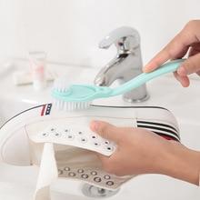 1 ADET Ev Çift Uzun Saplı Ayakkabı Fırçası Temizleyici Temizleme Fırçaları Yıkama Tuvalet Pot Yemekleri Ayakkabı Temizleme Araçları Ayakkabı Fırçaları