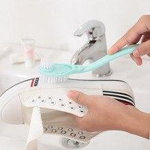 1PC Casa Duplo Punho Longo Escova de Sapato Limpo Escovas De Limpeza Sapatos Ferramentas de Limpeza de Pratos Pote de Lavagem Wc Escovas de Tênis