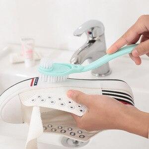 Image 2 - Bagno Scarpa Spazzole per pulizia Lavaggio Servizi Igienici Pennello Piatto Piatti Fatti in Casa Scarpe Da Ginnastica Strumenti di Pulizia Doppio Manico Lungo Spazzole da scarpe Cleaner