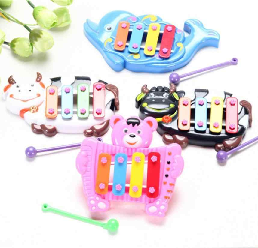 2018 New Wireless Instrument Toys for Girls Baby Kids Baby Musical Educational Animal Developmental Music Bell Toy 4 Tone