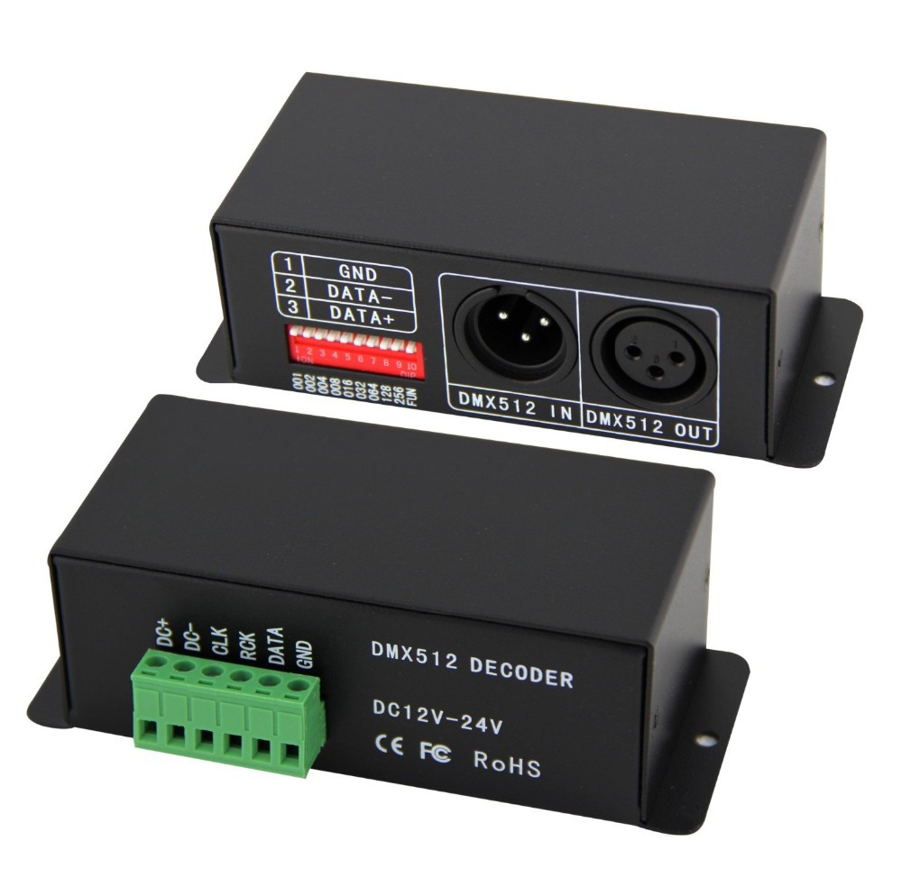 Free shipping DMX512 data decoder adopted DMX-WS2801 DMX-SPI Decoder;support WS2801,WS2803 drving IC hanita свитер