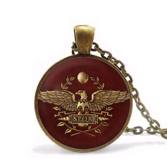 Game Gamer Total War Rome Necklace pendant chain Jewelry women men gift vintage antique charm vintage 2017 doctor who image