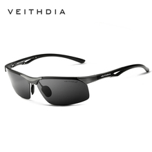 VEITHDIA Brand Men Sunglasses Aluminum Magnesium Classic  Polarzed Sun Glasses Eyewear Accessories oculos For Men 6591
