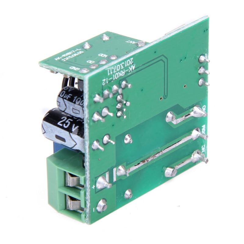 Télécommande universelle sans fil commutateur DC 12V 10A 433MHz Telecomando transmetteur avec récepteur pour système d'alarme antivol