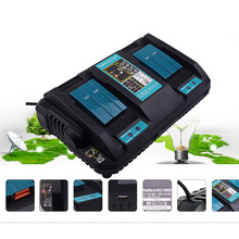 Power Tool Battery Charger Dual USB Port Fast 3A Output For Makita 14.4V 18V BL1415 BL1430 BL1840 BL1830 BL1440 4a dual usb port 7 2v 18v li ion fast battery charger for makita 18v bl1415 bl1430 bl1840 bl1830 bl1440 power tool battery charg
