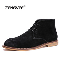 ZENGVEE 2017 Casual Boots Men Desert Boots Spring Autumn Fashion Comfortable Soft Round Toe PU Ankle