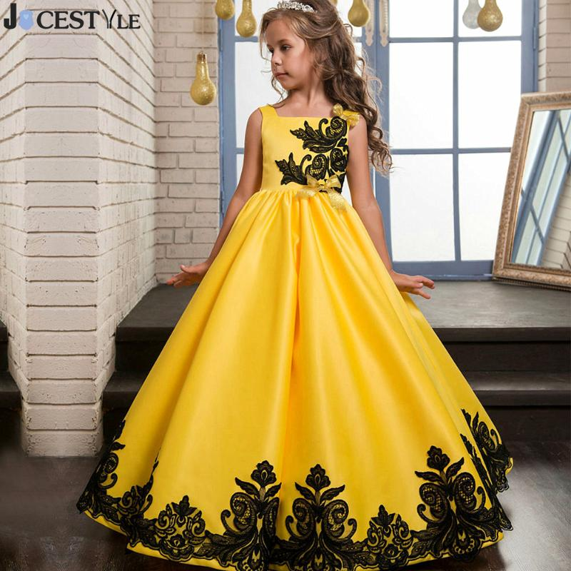 Kids Girl Formal Occasion Dress Bridesmaid Party Event Wedding Flower Long Dress Ball Gown Princess Teenager Clothing vestidos kids fashion 2018 wedding event child