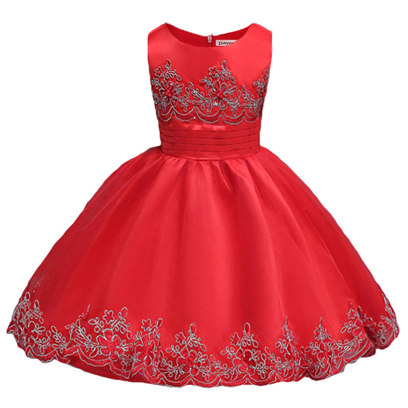 Baby girl party dress 2017 kids Clothes Children summer clothes princess costumes for 3 5 6 7 8 9 10 years girls birthday dress girl dress kids clothes 2016 wl original lemon flower print a line baby girl dress children cotton princess dress girls costumes