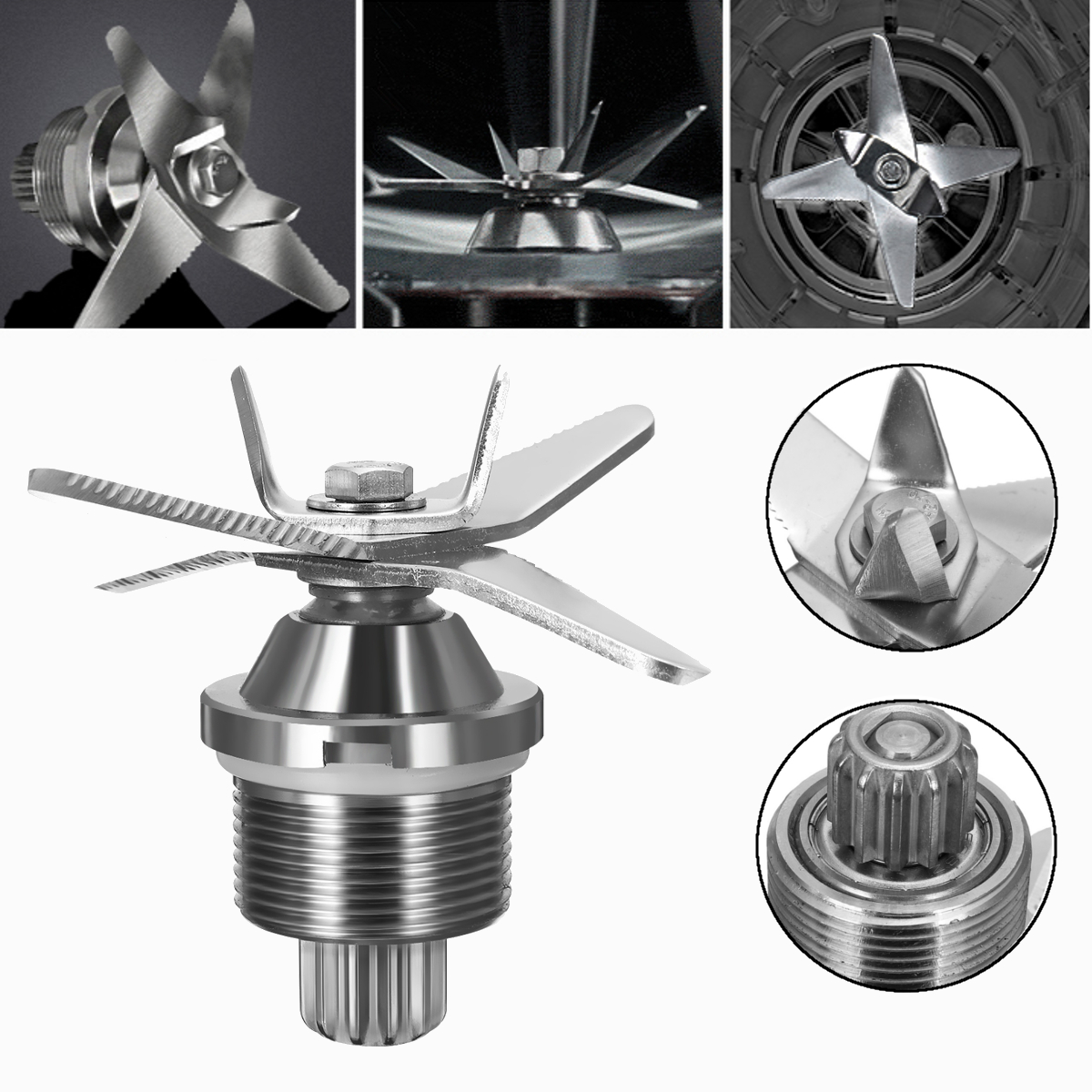Fit For G7400/G7700 Blenders Blenders Cutter Head Stainless Steel Silver High Hardness Durable стоимость