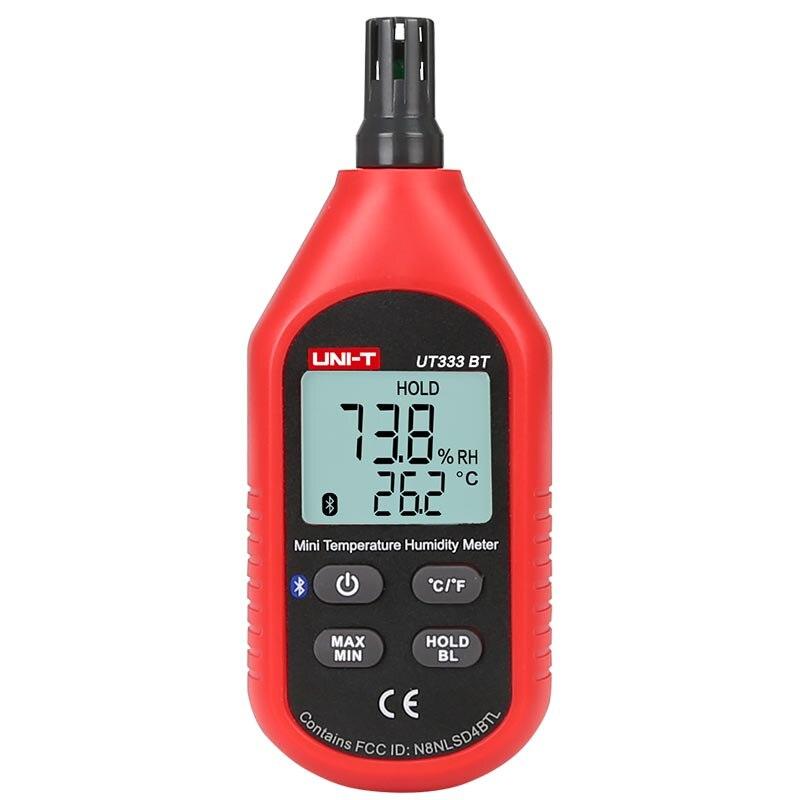 UNI-T UT333BT Thermometer Hygrometer Bluetooth Digital LCD Mini Temperature Humidity Meter Moisture Meter Sensor Thermometer cigar box shape 1 0 lcd electric thermometer humidity meter black 1 x ag13