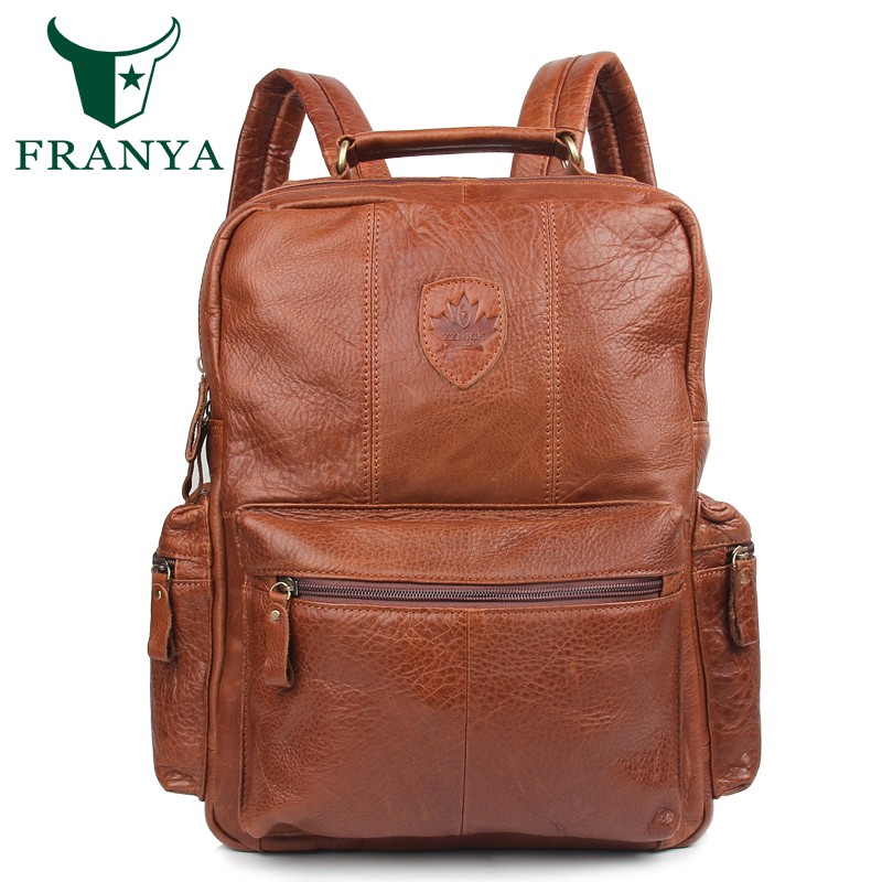 Vintage Genuine Leather Backpack School Bags mochila feminina Travel backpacks mochilas leather bag for men 2017 women leather backpack designer preppy style school bags for teenagers girl s travel bag vintage backpacks mochilas escolar