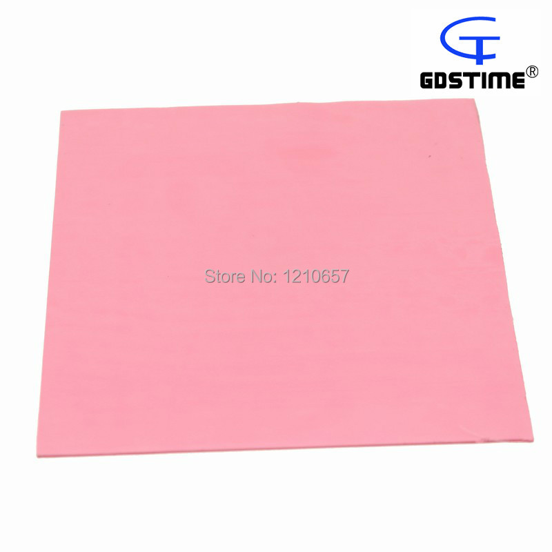 100 pieces Lot Thermal Pad 100mm x1mm Pink Conductivity Double Adhesive Heat Transfer CPU GPU IC