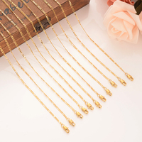 12pcs gold filled necklace Chain For Men Necklace Vintage chunky Fashion women Necklace Cuban boys Link Chain PNG Jewelry gift