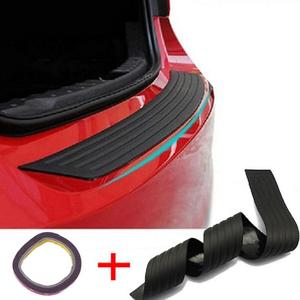 Image 5 - VODOOL Universal 104*9cm Car Trunk Door Sill Plate Protector Rear Bumper Guard Rubber Mouldings Pad Trim Cover Strip Car Styling