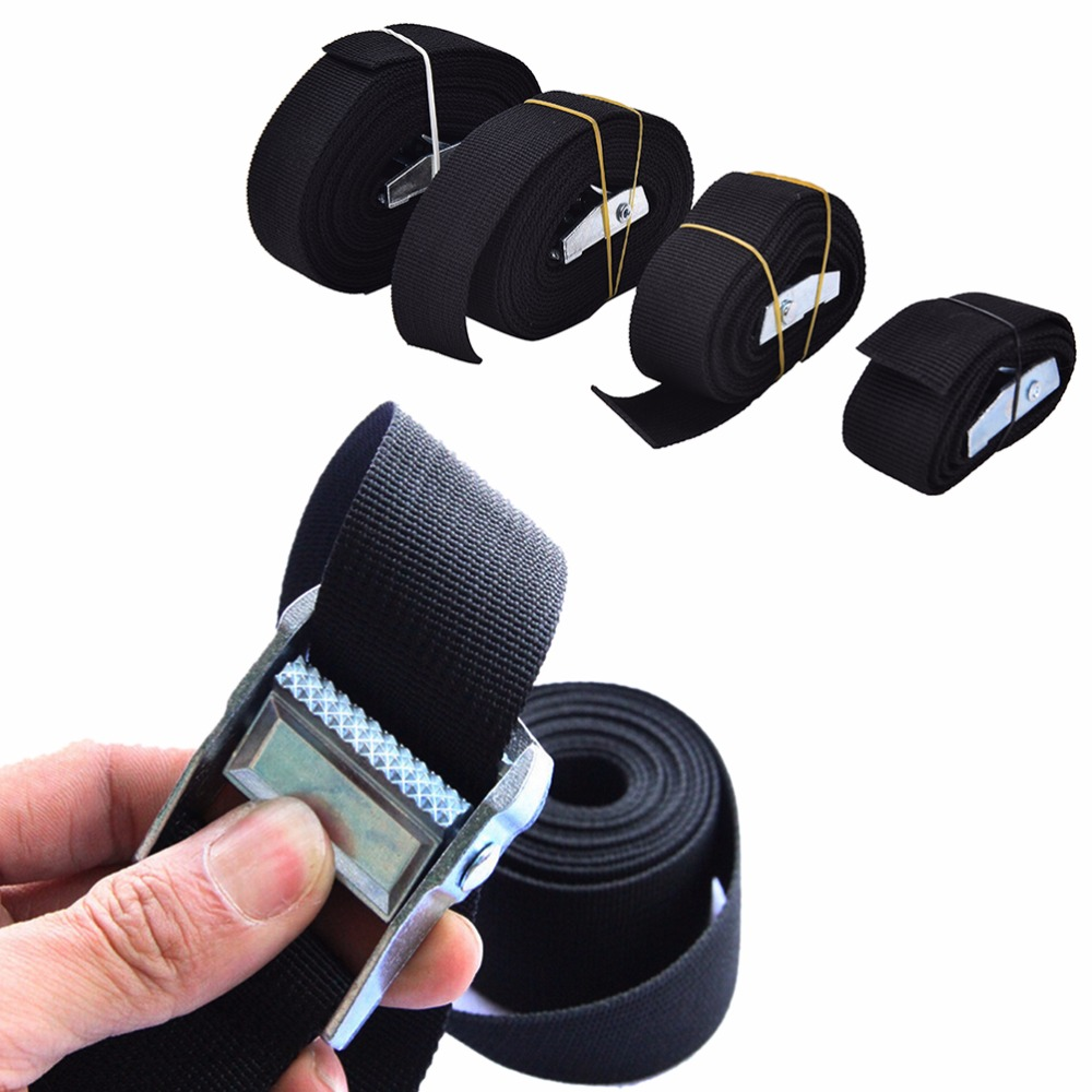 1-4 M Width Nylon Pack Cam Tie Down Strap Lash Luggage Bag Belt With Metal Buckle Travel Accessories