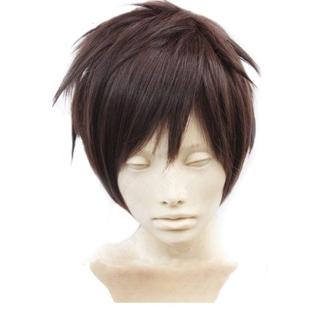 Eren Jaeger Dark Brown Cosplay Wig