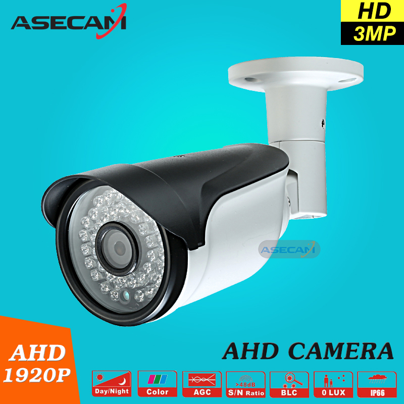NEW Full HD AHD 1920P CCTV Camera Outdoor Waterproof Bullet Night Vision IR Super 3MP Security Surveillance Free Shipping free shipping new waterproof ahd 720p bullet metal camera hd 1mp cctv outdoor security 24 ir night vision bnc cable