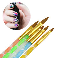 10Pcs Top Professional Wooden Dotting Pencils Point Drill Pen for Nail Art Rhinestones Gems Picking Tools