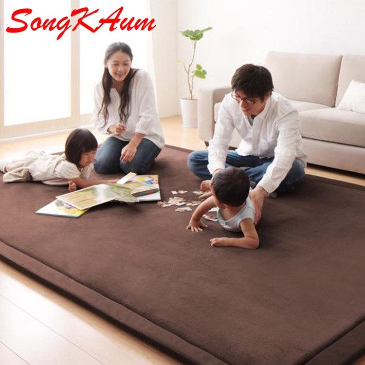 Vescovo 2019 New Thickening Coral Fleece Velvet Mattress White Camel Bed Mattress Tatami carpet Comfortable warmSponge