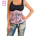 Pink Floral Pattern Corpetes E Espartilhos Sexy Women Waist slimming Corset Gothic Bustier Underbust Corsets Tops Hot Shapers