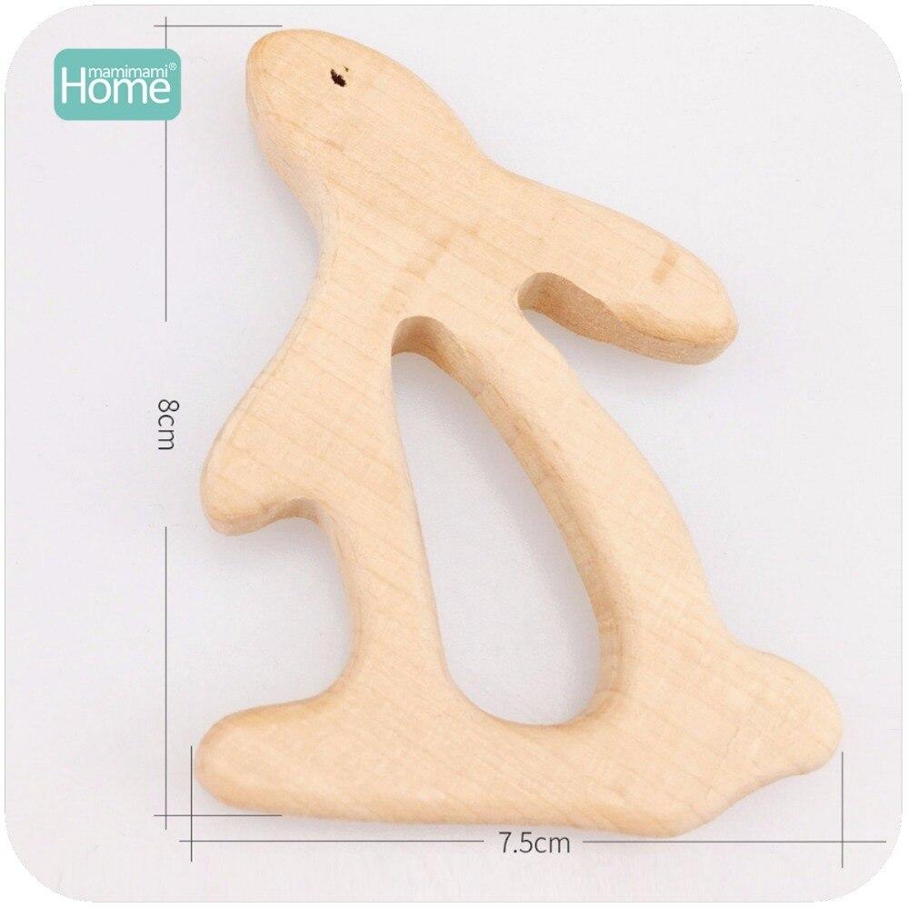 Mamimamihome chocalhos de madeira do bebê 10pc
