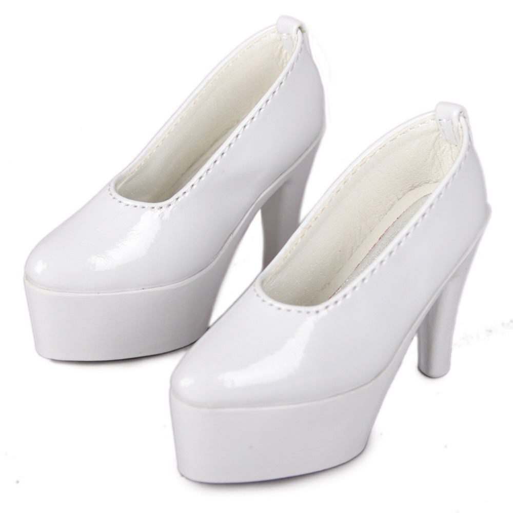 [wamami] 24#1/3 White AOD DOD SD BJD Dollfie Synthetic Leather High-heeled Shoes [wamami] 14 pink 1 6 sd dod aod bjd dollfie leather outfit shoes 4 5cm