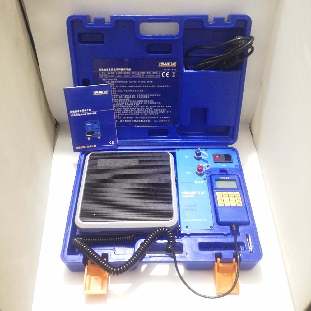 Refrigerant Recover/Charge Scale VALUE 50KG DIGITAL REFRIGERANT PROGRAMMABLE CHARGING SCALE HVAC 90kgs capacity digital refrigerant scale for hvac and refrigeration refrigerant charging scale