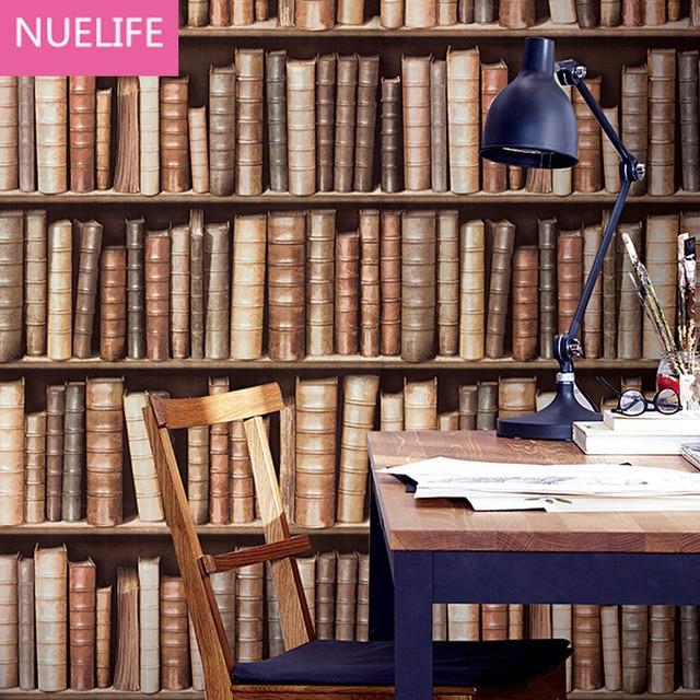 0.53x10 m Boekenkast Patroon Behang 3d Behang Bibliotheek Entree ...