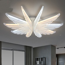Modern minimalist Ceiling lights eye protection cartoon animals creative modeling Children's bedroom Angel wing ceiling lamps ZA