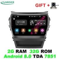 Funrover 2 Din Quad Core Android 8 0 Car Dvd Player For Hyundai Santa FE IX45