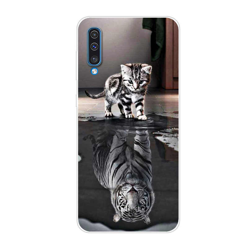3D Cute For Samsung Galaxy A50 2019 A505F A505 SM-A505F Case Silicone Cover For A30 A305F A305 A 30 S9 Plus A7 2018 S10 E
