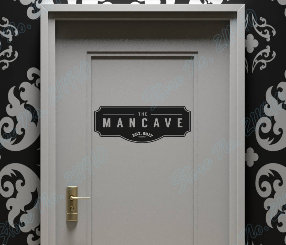 The ManCave Wall Door Sign Item For All The Men Out Distinct Sign Room Decor Home Decal Removable Vinyl Art Wall Sticker B159