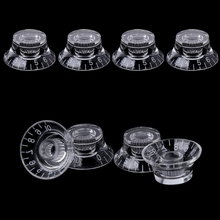 1pc Knob Button Bell Shape Guitar Tone Volume Control For LP Parts Transparent White
