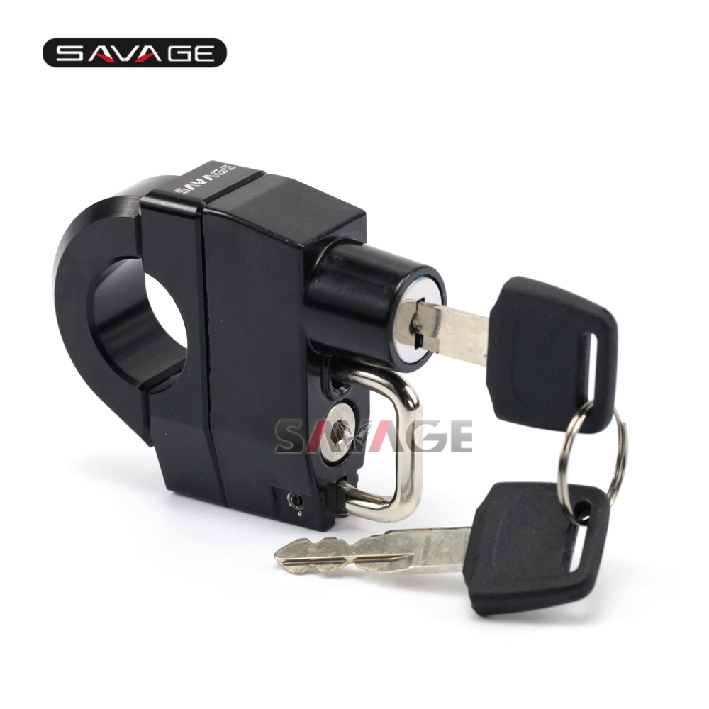 FOR HARLEY-DAVIDSON XL 883 1200 Motorcycle Universal 25mm Handlebars Helmet Lock Key Padlock Accessories 1997-2017 2015 2016