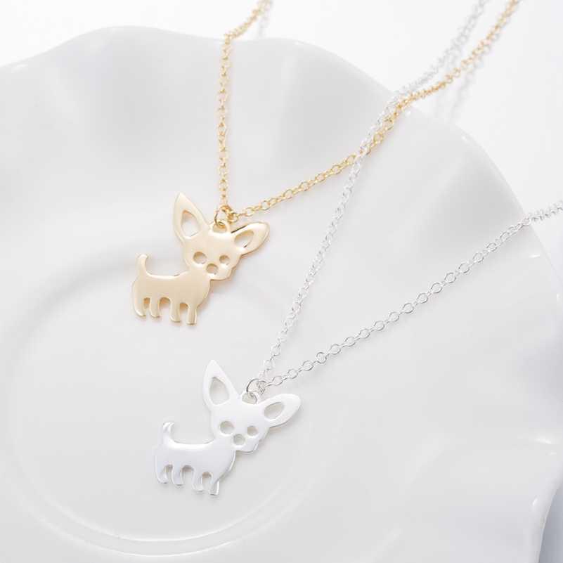 Smjel nowy śliczne Chihuahua Pet wisiorek naszyjniki dla kobiet miłość moje zwierzątko zwierząt naszyjnik z psem Choker Ketting biżuteria prezenty
