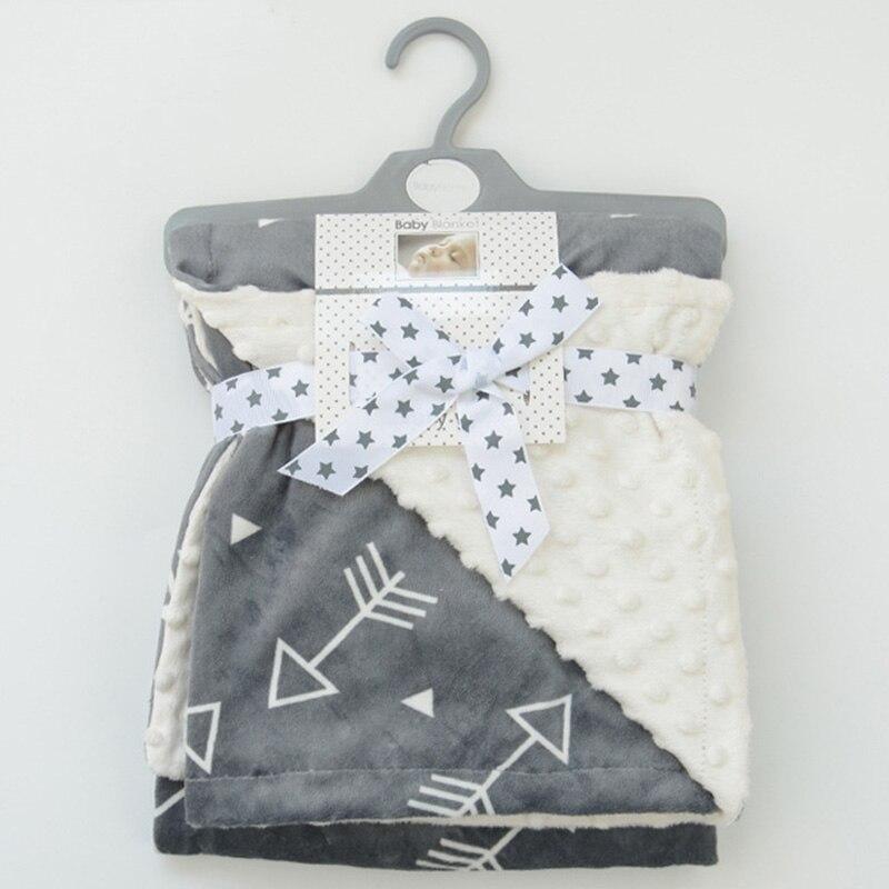Minky детское одеяло фланель шерсти животных Одеяло младенческой Пеленальный Nap получения коляска Обёрточная бумага для новорожденных Пелен... ...