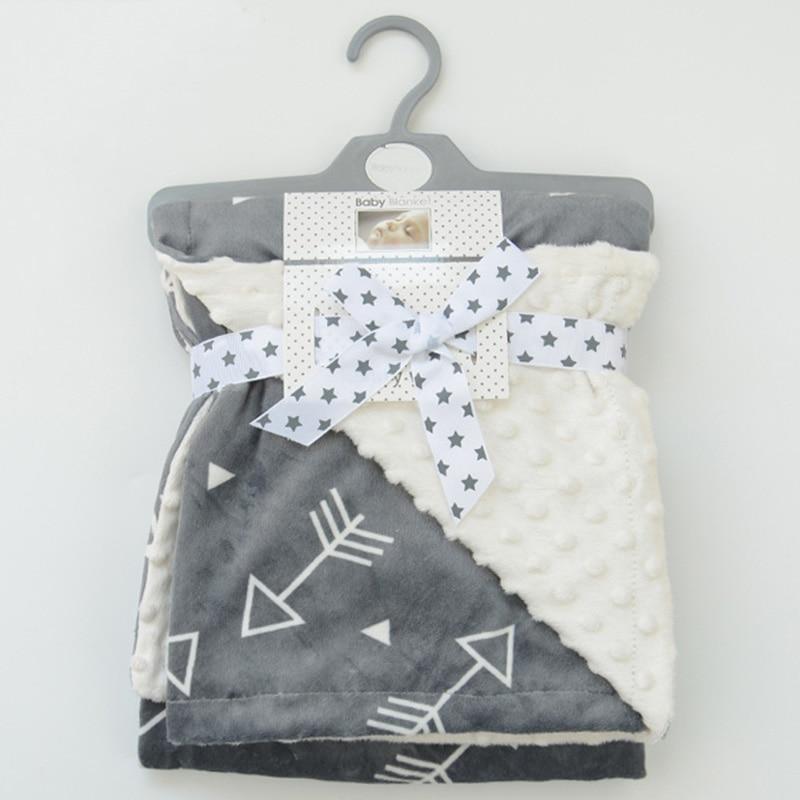 Minky Baby Blanket Flannel Fleece Animal Blanket Infant Swaddle Nap Receiving Stroller Wrap For Newborn Baby Bedding Blankets