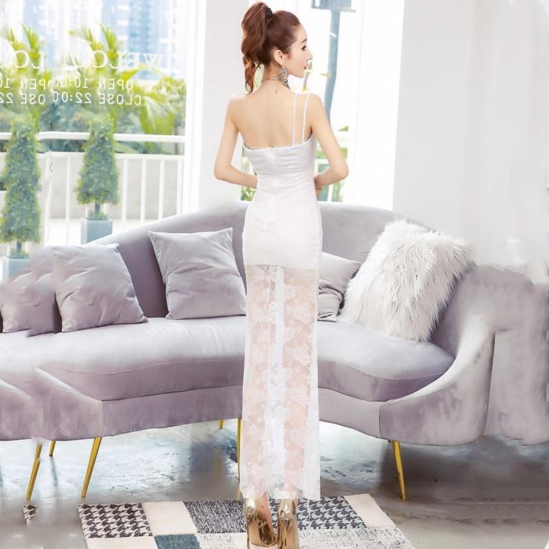 Oportunidad Real de temperamento Delgado bolsa de la cadera vestido Verano de 2019 nueva moda sexy un hombro vestido de encaje - 3