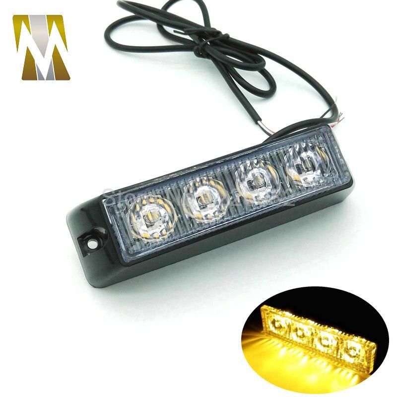 12V / 24V LED Avtomobil Təcili Beacon İşıq Bar 4W 12V Led Strobe - Avtomobil işıqları - Fotoqrafiya 2