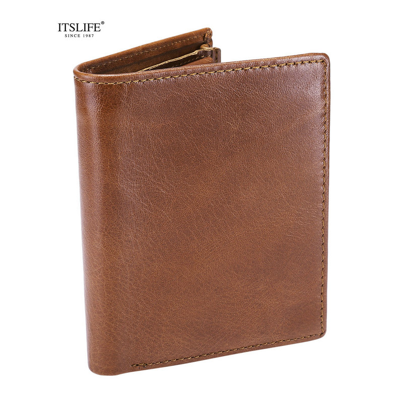 Mens New Genuine leather wallet bifold coin purse vertical male card holder cowhide compact mens wallet strap coin pocket mens wallets black cowhide real genuine leather wallet bifold clutch coin short purse pouch id card dollar holder for gift