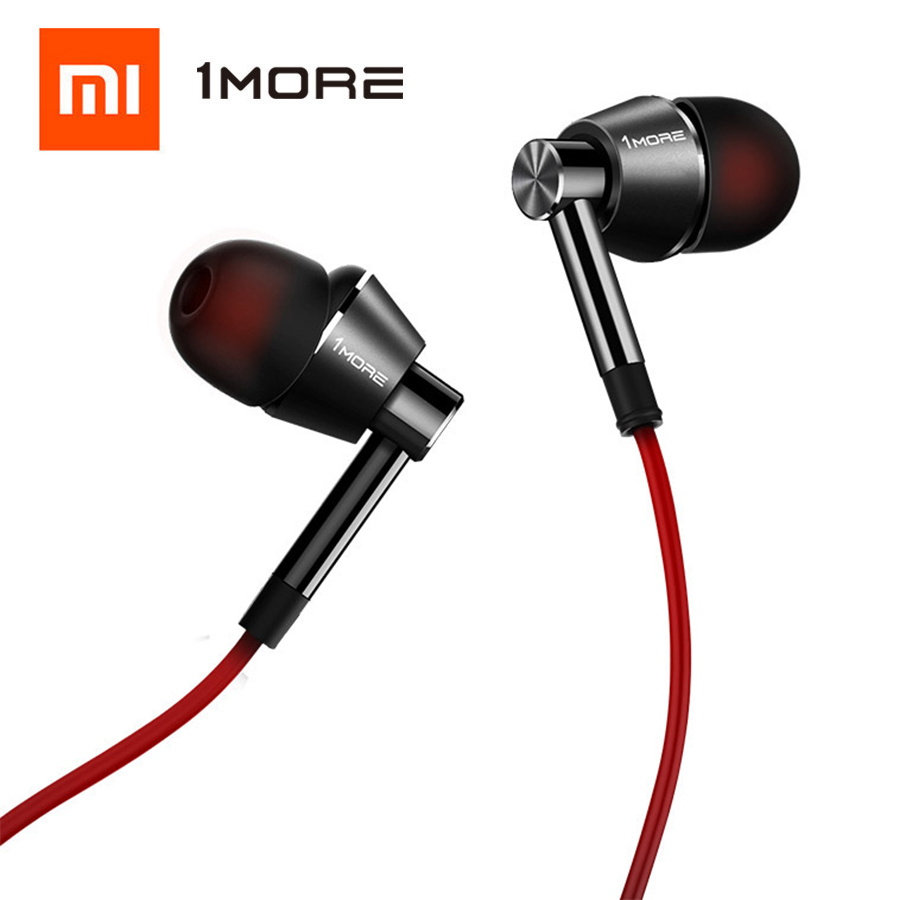 1MORE Dynamic Driver In Ear Earphone with Microphone Control of Volume 80% Metal Diaphragm 1M301 for iOS & Android Xiaomi Phone босоножки geox geox ge347awadcq1