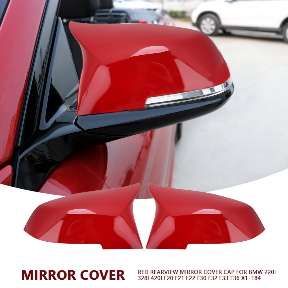 1 Pair Rearview Mirror Cover Cap for BMW 220i 328i 420i F20 F21 F22 F30 F32
